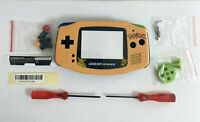 Housing for Nintendo GBA Game Boy Advance Shell Screen Pokemon Yellow Pikachu