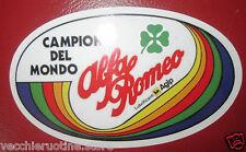 COPPIA ADESIVI sticker ALFA ROMEO CAMPIONE DEL MONDO competizione Autodelta Agip