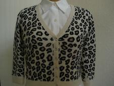 AQUA Cashmere 100% ANIMAL PRINT Sweater  size S  HOT UNIQUE SEXY MUST HAVE
