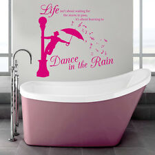Dance In The Rain - Wall Art Quote Decal Sticker 2