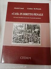 CASI IN DIRITTO PENALE Alessio Lanzi Cosimo M Pricolo Cedam 1996 libro giuridica