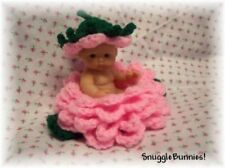 "SWEET PINK ROSEBUD FOR 5"" BERENGUER REBORN OR OOAK BABY"