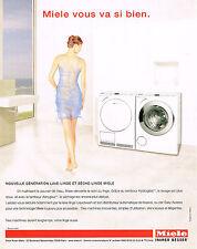 PUBLICITE ADVERTISING  2006   MIELE    lave linge séche linge