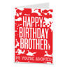 Funny Rude Happy Birthday Brother Card Perfect For 18th 21st 30th 40th