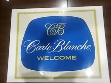 ORIGINAL rare Vintage 1960 Carte Blanche 2-sided Outdoor Credit Card Sign