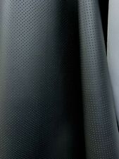 Black Perforated Faux Leather Vinyl Upholstery Fabric (55 in.) Sold By The Yard