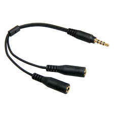 3.5mm Stereo Microphone Headset Splitter Adapter Cable separate microphone plugs