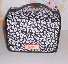 Victoria's Secret Faux Leather Hanging Travel Train Case Makeup Bag NWT