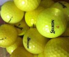 20 YELLOW Srixon Z Stars AA-Standard Grade Golf Balls plus10 plastic wedge tees