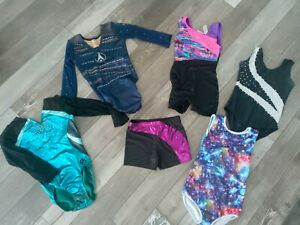 girls gymnastics leotard size 7/8 Lot Of 6 Pieces! Mixed