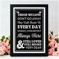 Memorial Loved Ones In Loving Memory Remembrance Personalised Wedding Signs