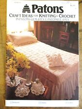~PATONS BOOK No. 951-KNIT/CROCHET-DOILIES, CUSHIONS, BEDSPREAD + MORE in 4PLY~