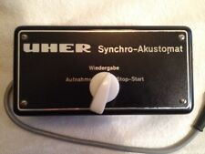Uher Synchro-Akustomat Tape recorder start stop switch & operating instructions