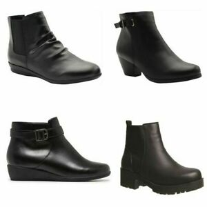 Grosby Boots Womens Winter Warm Comfortable Black Work Everyday Ankle Boot Shoes