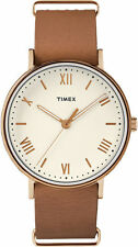 Timex TW2R28800, Men's Southview, Brown Leather Watch, TW2R288009J