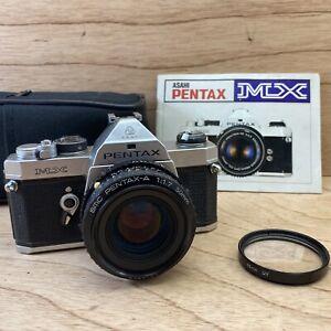 PENTAX MX 35mm SLR Film Camera w/ SMC-A 50mm F1.7 Lens Manual Tested