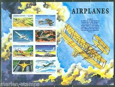 SIERRA  LEONE  IMPERF AIRPLANES FLYER I, MIG15, TUPOLEV  SHEET  SC#2173  MINT NH