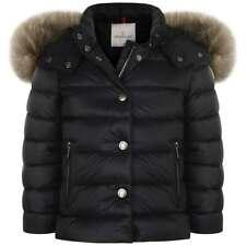 $1650 Moncler GIRL'S Negro Acolchado Puffer chaqueta abrigo invierno abajo Talla 10