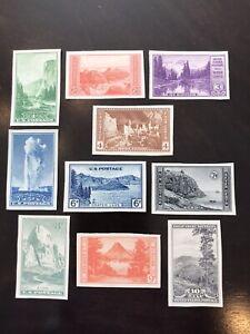 US postage stamp National Parks Imperfs Set #756-765 MNGAI SCV $16.00