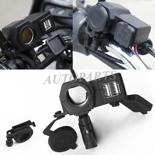 4.2A Motorcycle USB Power Outlet Port Charger For Honda Harley KAWASAKI CRUISER