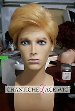 Blonde Short Wig Glueless Synthetic Hair Wigs For White Men Cheap Synthetic Hair