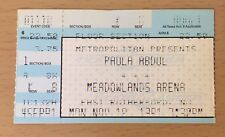 1991 Paula Abdul Spellbound Tour New Jersey Concert Ticket Stub Straight Up