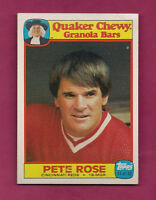 RARE 1986 REDS PETE ROSE  QUAKER CHEWY GRANOLA BARS  CARD