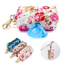 Dog Poo Bag Dispenser for Lead Waste Poop Bag Holder with Leash Attachment Clip