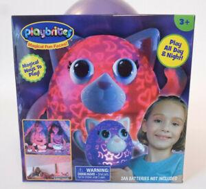 Playbrites Purple Kitty Kids Nightlight Cordless Desk Night Light Projector