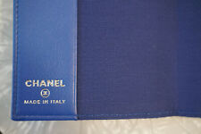 Authentic Italian CHANEL Caviar Leather Day Planner blue. FREE SHIPPING!