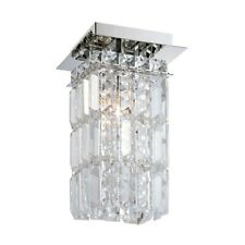 ELK Lighting King 1-Light Flush Mount, Chrome/Clear Crystal Glass - FM1201-0-15