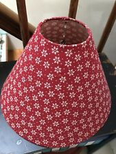 Vintage Retro LightShade Lamp Shade Red Snow Flake Fabric-Covered