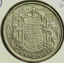 CANADA 1947  50 CENT  EF 30 SILVER COIN FROM A HUGE COLLECTION KEEP FOLLOWING US