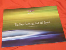 2012  BENTLEY New Continental GT Speed (W12 / 625 PS) Prospekt Brochure