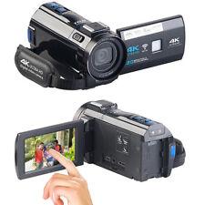 Videokamera: 4K-UHD-Camcorder mit Panasonic-Sensor, WLAN, App, HD mit 120 B/Sek.