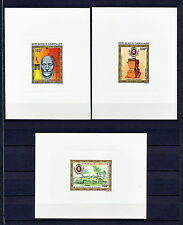 DELUXE 075 GABON 1971 FULL SET AIR NAPOLEON MONUMENTS LUXE PROOF IMPERF MNH