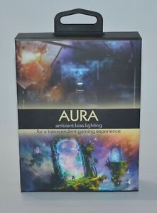 AURA AMBIENT BIAS LIGHTING TRANSCENDENT GAMING 6500K LED LIGHTS USB CONTROLLER
