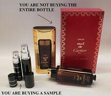Vintage Original Must de Cartier PARFUM ~ 100% Authentic Perfume samples