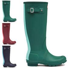 Ladies Hunter Original Stripe Pull On Rain Wellington Wellies Boots All Sizes