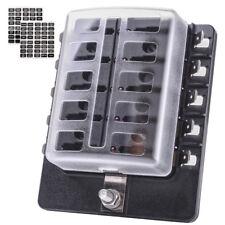 MICTUNING LED Illuminated Automotive Blade Fuse Holder Box 10-Circuit Fuse Block