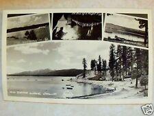 RPPC CALIF MULTI-VIEW BIG BEAR LAKE CALIFORNIA REAL FRASHER FOTOS PHOTO POSTCARD