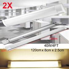 2X 120CM 4FT LED Slim Ceiling Batten Tubes Light Fluorescent Lamp Warm White