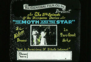 THE MOTH AND THE STAR Vintage 1916 Silent Film KALEM Stingaree Movie Glass Slide