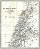MAP ANTIQUE 1856 KIEPERT LEBANON HISTORIC LARGE REPLICA POSTER PRINT PAM0326