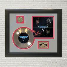 Van Halen Framed Picture Sleeve Gold 45 Record Display