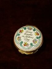 Vintage 1990 Halcyon Days England Mothers Day Trinket Box Vg Free Shipping in Us
