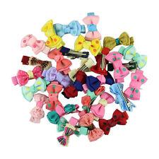 30pcs Kids Baby Girl Hairpins Princess Printing Ribbon Bow Flower Hair Clip Hot