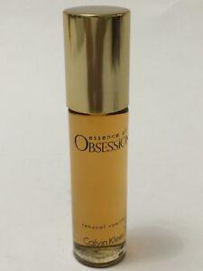 Essence Of OBSESSION Calvin Klein Women Perfume oil Sensual Vanilla .33oz VINTAG