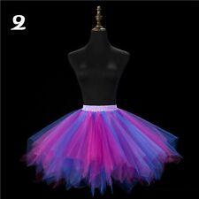 Lady TUTU Skirt Crinoline Petticoat Bridal Underskirt Hot Mini Marathon Show