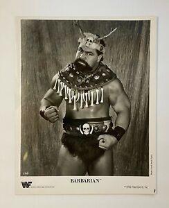 The Barbarian ORIGINAL 1990 WWF 8X10 Promo Photograph! WWE! Titansports!